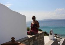 Cultured Black Pearl in Mykonos