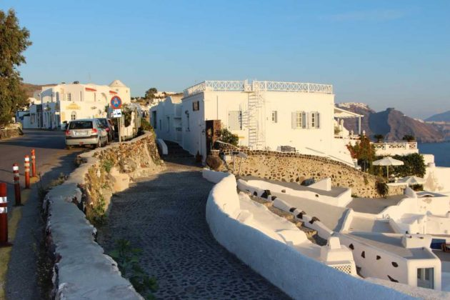 Streets of Thira, Greece