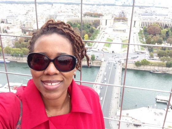 Touring Eiffel Tower • Cultured Black Pearl