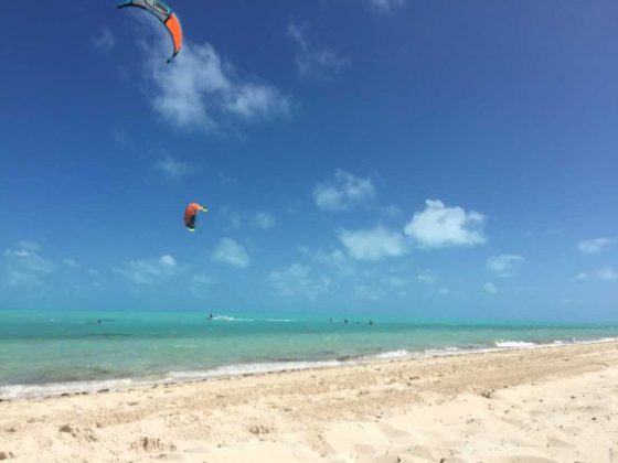 Kiteboarding, Longbay Beach in Turks and Caicos