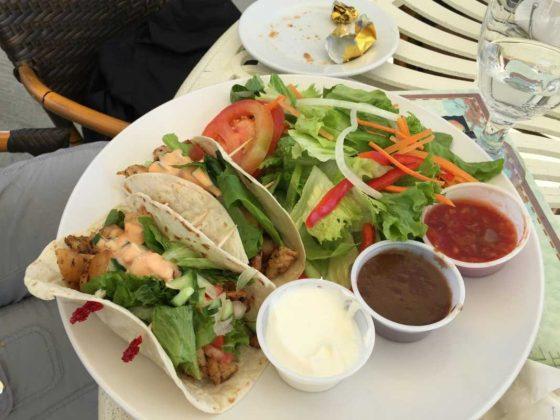 Mango Reef Fish Taco Entree • Turks and Caicos