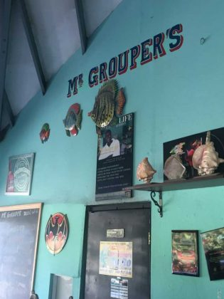 Mr Groupers Fish Wall • Turks and Caicos