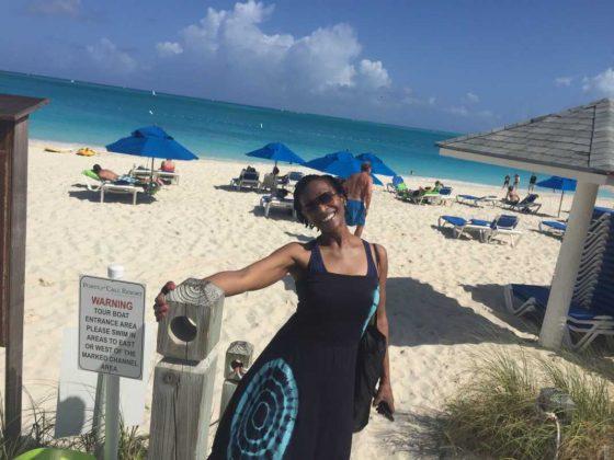 Solo Traveler at Grace Bay Beach