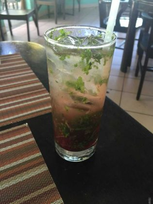Strawberry Mojitos in Turks and Caicos