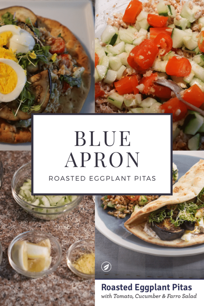 roasted eggplant pitas and more