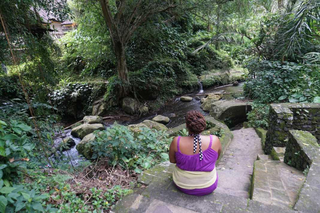 Taking in the view at Gunung Kawi