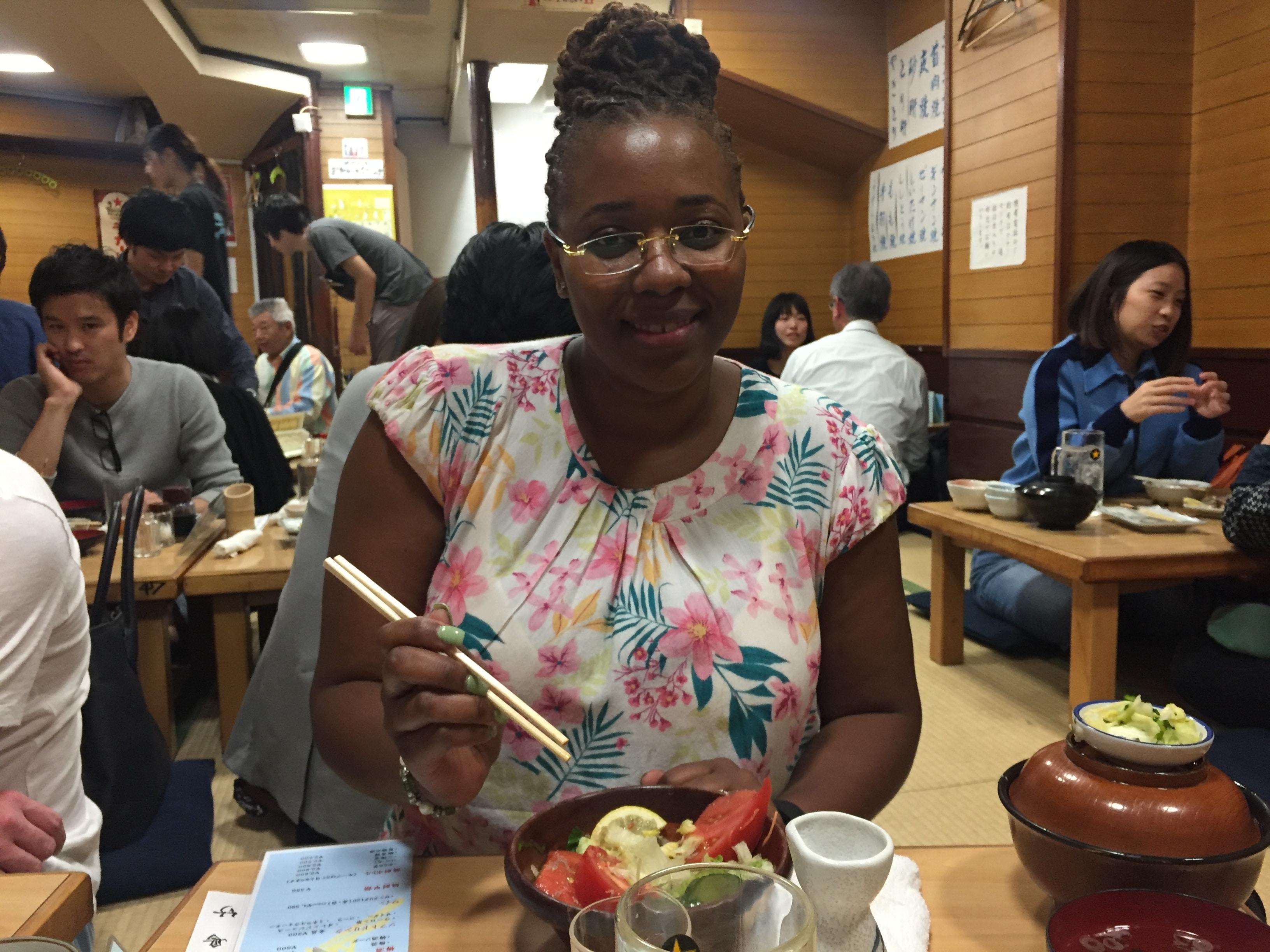 Dining at Toritake Tokyo, Japan