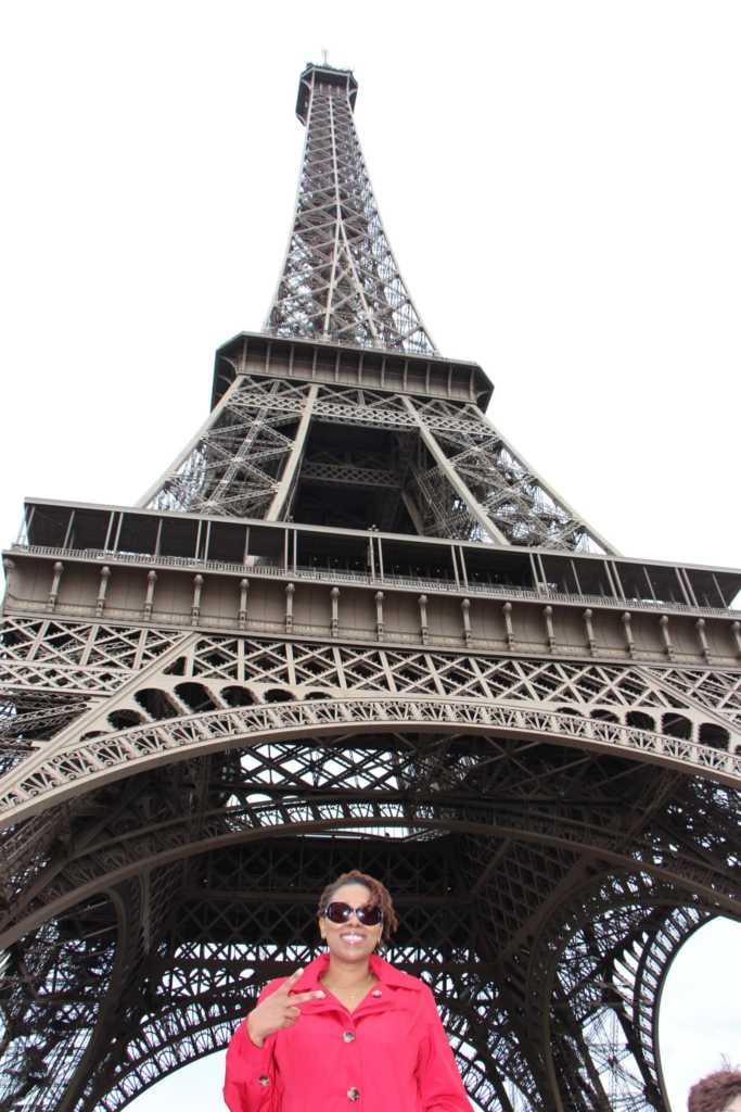 Cultured Black Pearl at Eiffel Tower, Paris