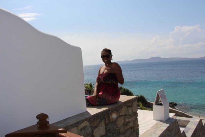 Cultured Black Pearl in Mykonos