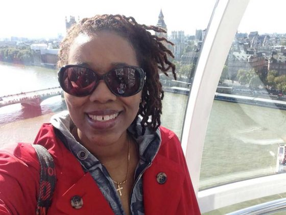 Cultured Black Pearl inside the London Eye