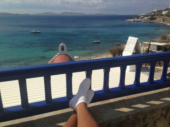 Mykonos Grand Hotel Private Balcony
