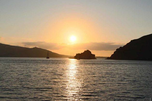 Romantic Sunsets in Santorini, Greece
