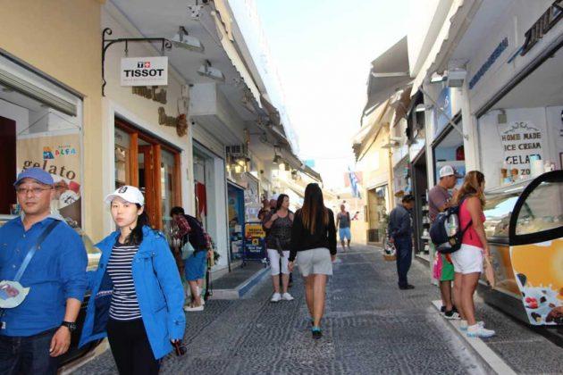 Shops in Fira, Greece