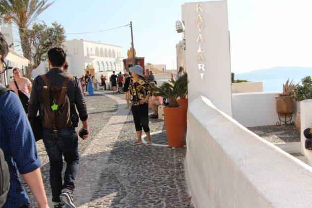 Touring Fira, Greece