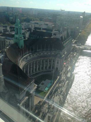 Views from inside the London Eye