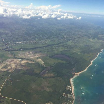 Flying over Dominican Republic