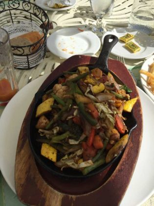 Grilled Veggies at Mango Reef in Turks and Caicos