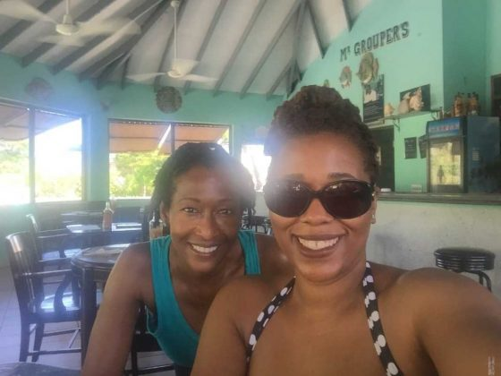 Selfies at Mr Groupers • Turks and Caicos Islands
